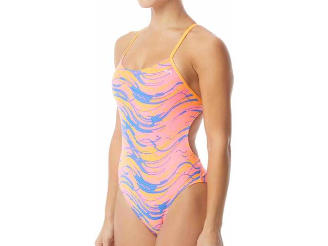 mieux aimé ec4f9 c07c5 TYR Wave Rider Cutoutfit Maillot de bain 1 pièce Femme, pink/blue